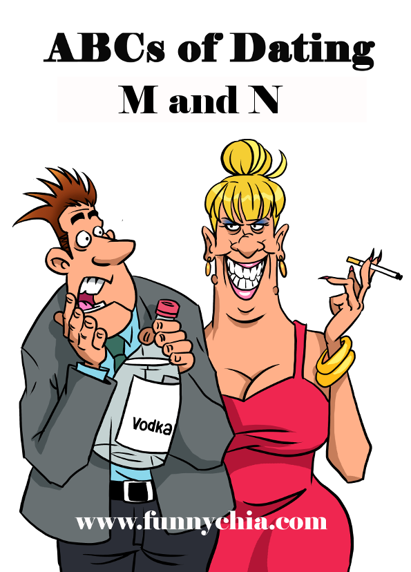 Humorous cartoon of a single dating couple; Real life 21st century dating stories from a humorous, honest single woman's view. This portion discusses married men and the aggravation involved with them, and nakedness and the joy of finding a naked man who thinks that's all he needs to do to win you over.