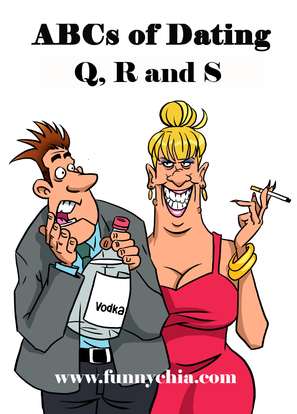 Humorous cartoon of a dating couple; Real life 21st century date-ing stories from a humorous, honest single woman's view. Topics include questions, what to ask, a series of limericks about a jerk, safety concerns and a story of a stalker.